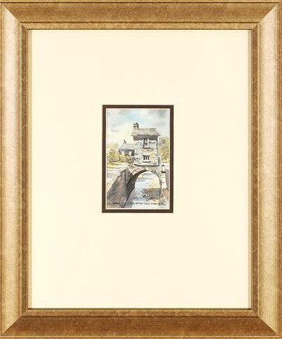 Bridge House Ambleside Martin Goode Original Fine Art Painting Watercolor Artist Hand Signed Framed