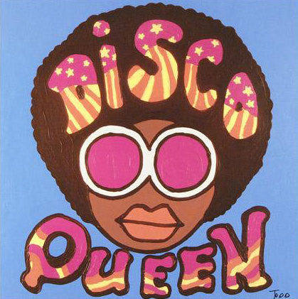 Disco Queen Todd Goldman Fine Art Canvas Giclee Print Artist Hand Signed and Numbered