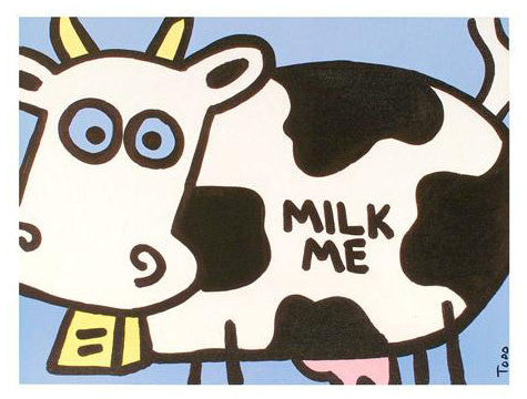 Milk Me Todd Goldman Canvas Giclee Print Artist Hand Signed and Numbered