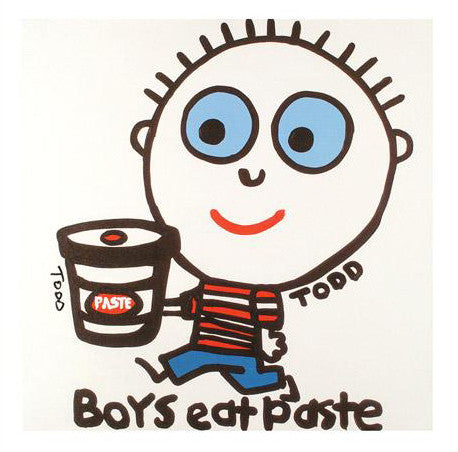 Boys Eat Paste Todd Goldman Fine Art Canvas Giclee Print Artist Hand Signed and Numbered