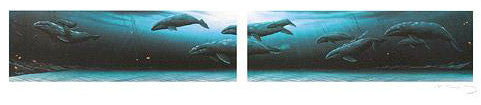 Annual Migration 1 & 2 Wyland Mixed Media Prints Artist Hand Signed and Numbered