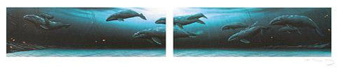 Annual Migration 1 & 2 Wyland Fine Art Mixed Media Prints Artist Hand Signed and Numbered