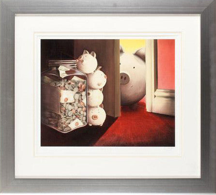 Caught in the Act A J Callan Fine Art Giclee Print Artist Hand Signed and Numbered