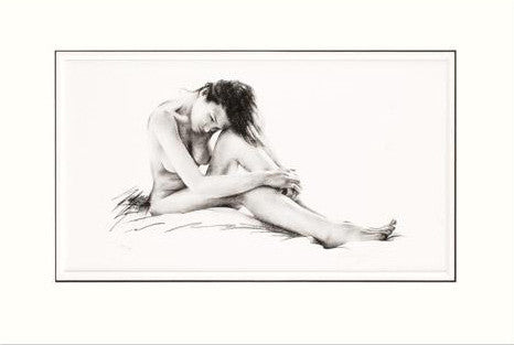 Reclining Nude Melissa Mailer Yates Giclee Print Artist Hand Signed and Numbered