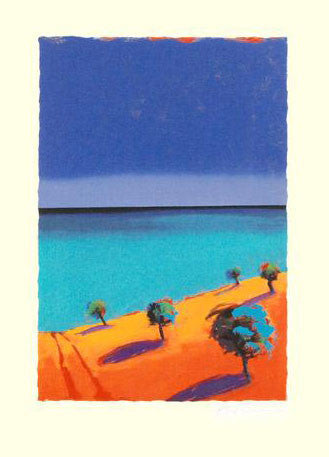 The Ocean Paul Powis Fine Art Serigraph Print Artist Hand Signed and Numbered