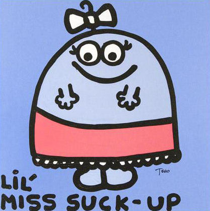 Todd Goldman Lil Miss Suck Up Fine Art Canvas Giclee Print Artist Hand Signed and Numbered