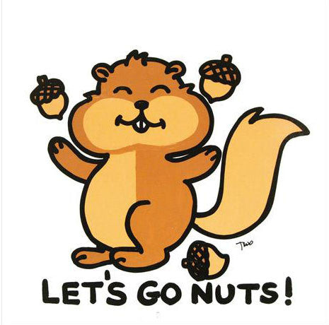 Lets Go Nuts Todd Goldman Fine Art Canvas Giclee Print Artist Hand Signed and Numbered