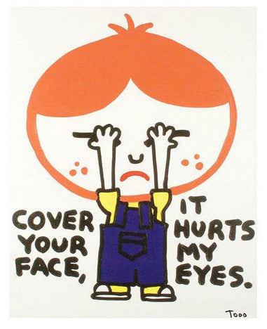 Cover Your Face Todd Goldman Canvas Giclee Print Artist Hand Signed and Numbered
