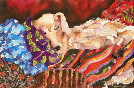 Blaze The Dog Linnea Pergola Fine Art Canvas Giclee Print Artist Hand Signed and Numbered