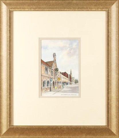 Napiers Court Dorchester Martin Goode Fine Art Original Watercolor Painting Artist Hand Signed Framed