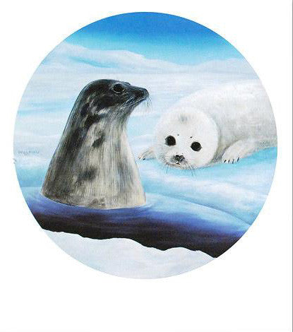 Harp Seals Wyland Fine Art Lithograph Print Artist Hand Signed and Numbered