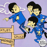 In Air Beatles Cartoon Sericel with Full Color Lithograph Color Background Apple Authorized by Dennilu