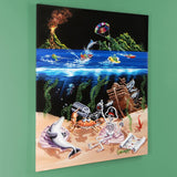 Sand Bar II Michael Godard Canvas Giclee Print with Artist Authorized Signature and S/B Numbered