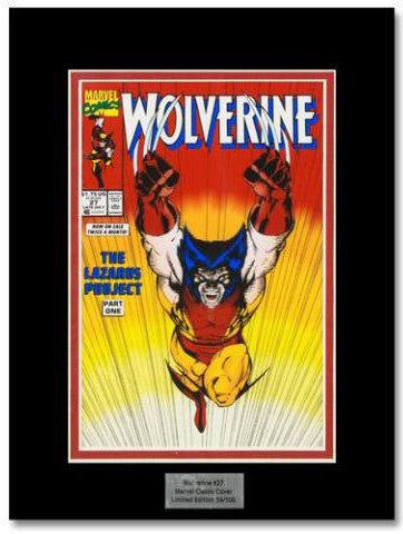 Wolverine 27 Marvel Collector Covers Series Artist Jim Lee Lithocel Print Numbere