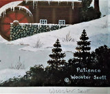 Patience Jane Wooster Scott Lithograph Print Artist Hand Signed and Numbered