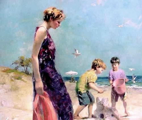 Good Ole Days Pino Daeni Giclee Print Artist Hand Signed and Numbered