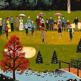 Putt for the Championship Jane Wooster Scott Serigraph Print Artist Hand Signed and Numbered