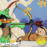 Chuck Jones Robin Hood Bow and Error Hand Painted Animation Cel Signed