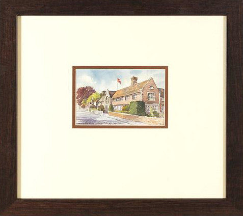 Wye College Kent Martin Goode Original Watercolor Painting Artist Hand Signed Framed