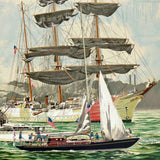 Tall Ships NY Harbor Harry Schaare Printers Proof Serigraph Print Artist Hand Signed and PP Numbered