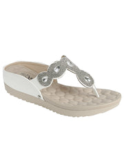 New <br/> CLOUD-5 <br /> Womens Flat T-strap sandal <br> $ 9.50 / Pair