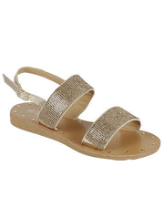 New <br/> HENNIE-49 <br /> Womens Flat Double strap sandal <br> $ 9.50 / Pair