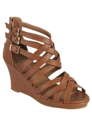 SAMMY-76 Ladies low wedge Gladiator sandal <br> $ 11.00 / Pair