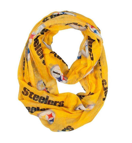 Pittsburgh Steelers Little Earth Productions Sheer Infinity Scarf Yellow