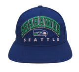 Seattle Seahawks Snapback Retro Vintage Arch Cap Hat Blue