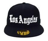 Los Angeles Old English Snapback Cap Hat Black