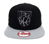 Brooklyn Nets Snapback New Era ORIGINAL FIT Mark Backer Cap Hat Black Grey