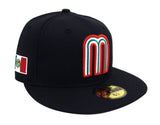 Mexico Fitted Kids New Era 59FIFTY Hat World Baseball Classics Cap Black