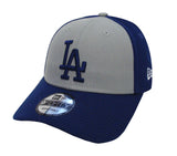 Los Angeles Dodgers Adjustable New Era The League Velcro Blocked Cap Hat Blue Grey