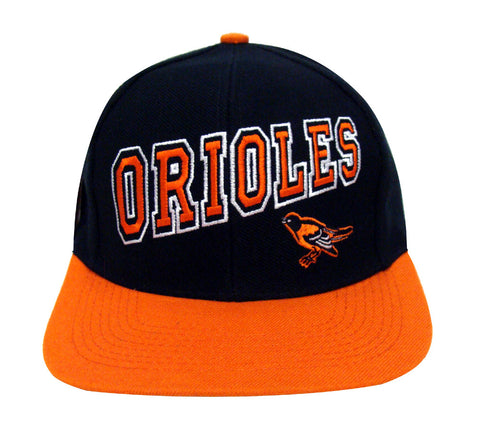 Baltimore Orioles Snapback Retro Vintage Name Cap Hat Black Orange 59cb24726edd