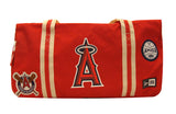 Anaheim Angels New Era Heritage Patch Small Duffel Bag Red