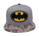 Batman Snapback New Era Logo Cap Hat Grey Camo
