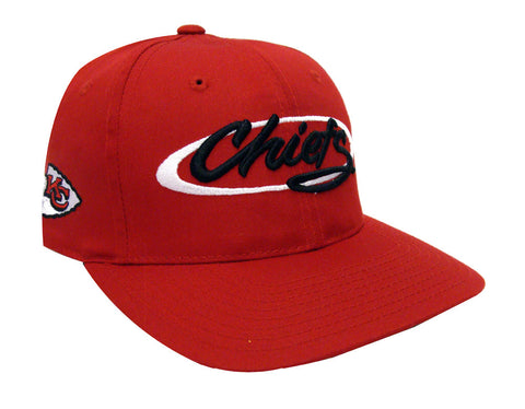 Kansas City Chiefs Snapback Retro Vintage Script Cap Hat Red