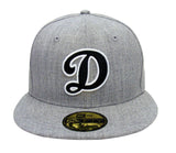 Los Angeles Dodgers Fitted New Era 59FIFTY D Cap Hat Grey Wool