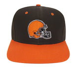 Cleveland Browns Snapback Retro Vintage Logo Cap Hat Brown Orange