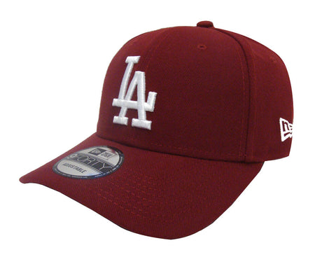Los Angeles Dodgers Velcro Adjustable New Era 9Forty The League  Cap Hat Burgundy