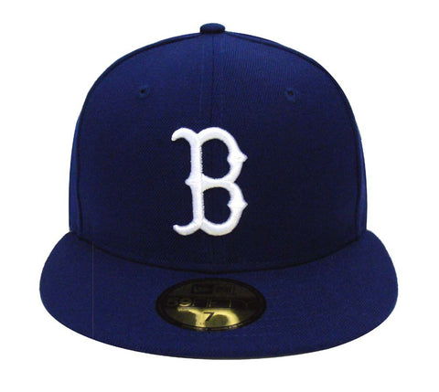 Boston Red Sox Fitted New Era 59Fifty Logo Cap Hat Blue