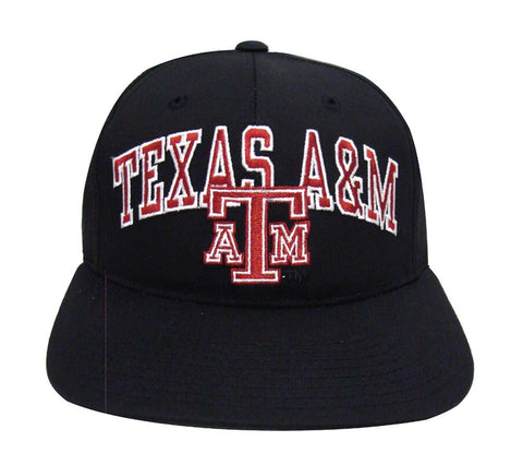 Texas A&M Aggies Snapback Vintage Retro Block Cap Hat Black