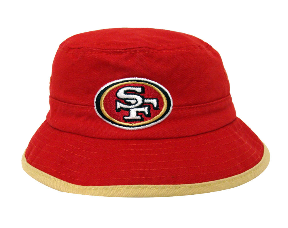 San Francisco 49ers Bucket Kids (4-7) Logo Hat Red Gold – THE 4TH ... 3948f1a52