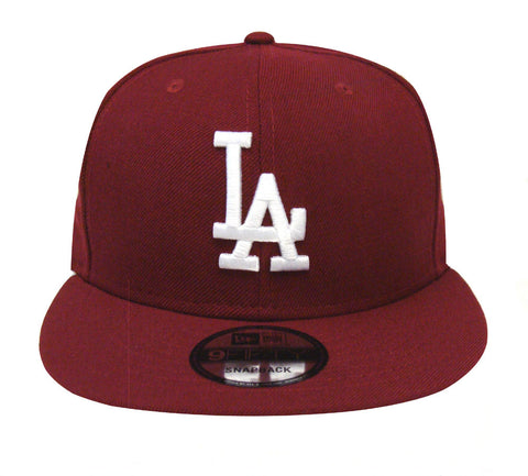 Los Angeles Dodgers Snapback New Era 9FIFTY Logo Cap Hat Burgundy