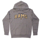 Los Angeles Rams Men's Antigua Name & Logo Pullover Sweatshirt Grey