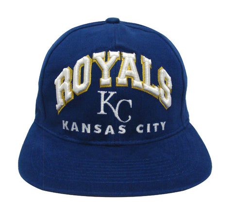 Kansas City Royals Snapback Retro Vintage Arch Cap Hat Blue