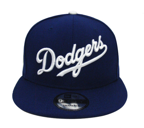 Los Angeles Dodgers Snapback New Era Script Wordmark Cap Hat Blue
