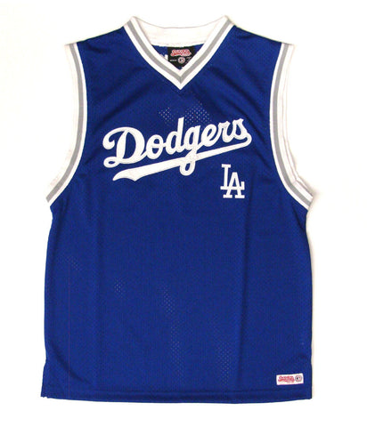 Los Angeles Dodgers Youth Basketball Jersey Tank Blue