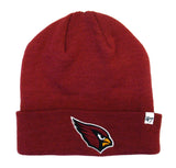 Arizona Cardinals Beanie 47 Brand Embroidered Ski Fold Cap Burgundy