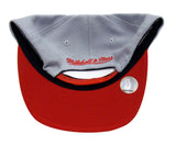 Houston Rockets Snapback Mitchell & Ness XL Logo Cap Hat Grey Red